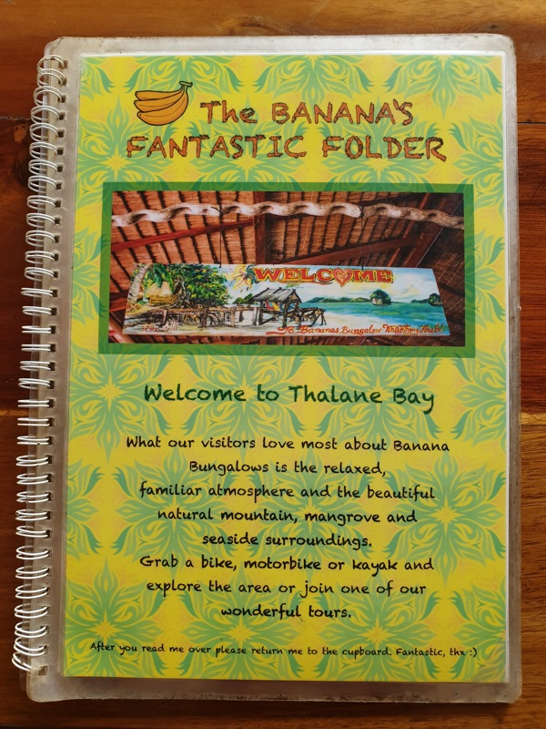 Bananas Bungalows Menu food Restaurant 1